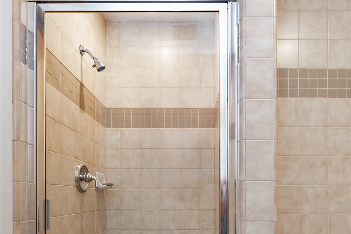 Master bath - soaking tub & Separate shower.