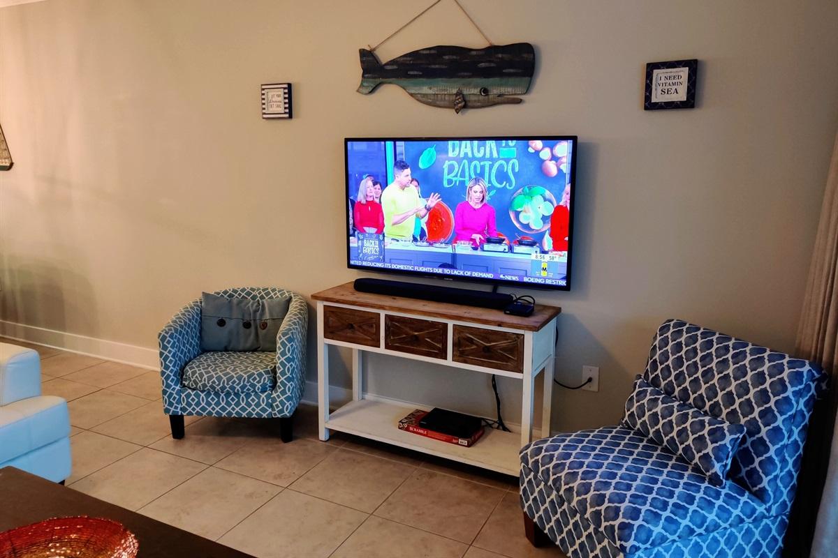 Samsung Smart TV & Sound Bar!