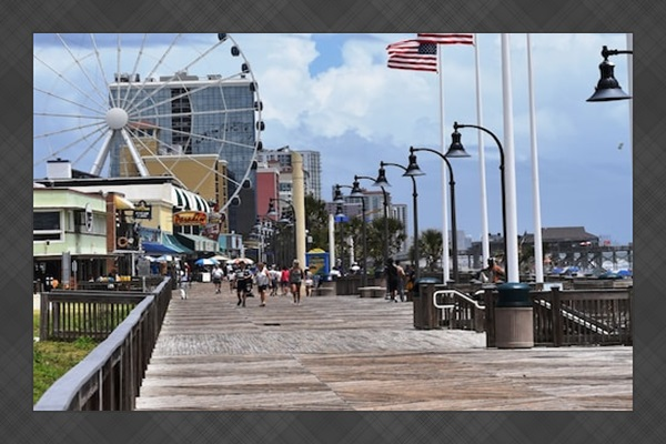 Take a Stroll on the Boardwalk or Ride the Sky Wheel with the Ocean Beside You.
