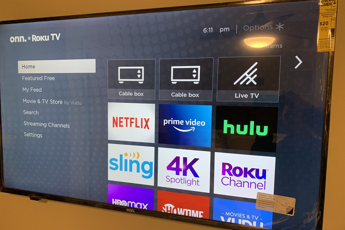 "50"" smart TV in bedroom"
