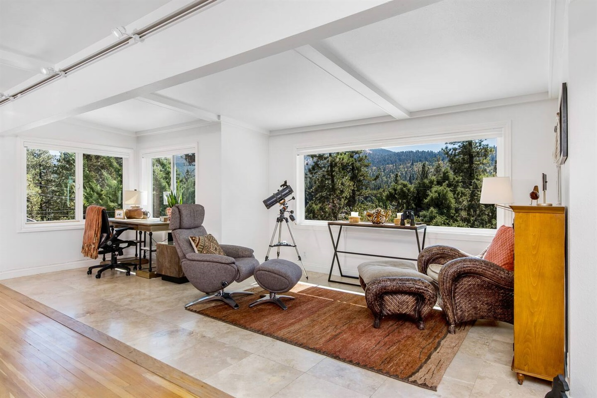 Lounge (Lower Level): With a dedicated work area and beautiful mountain views, Fox Haus is the perfect location for work and play.