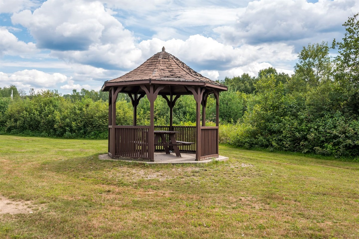Gazebo in the playground park. Great place for a picnic