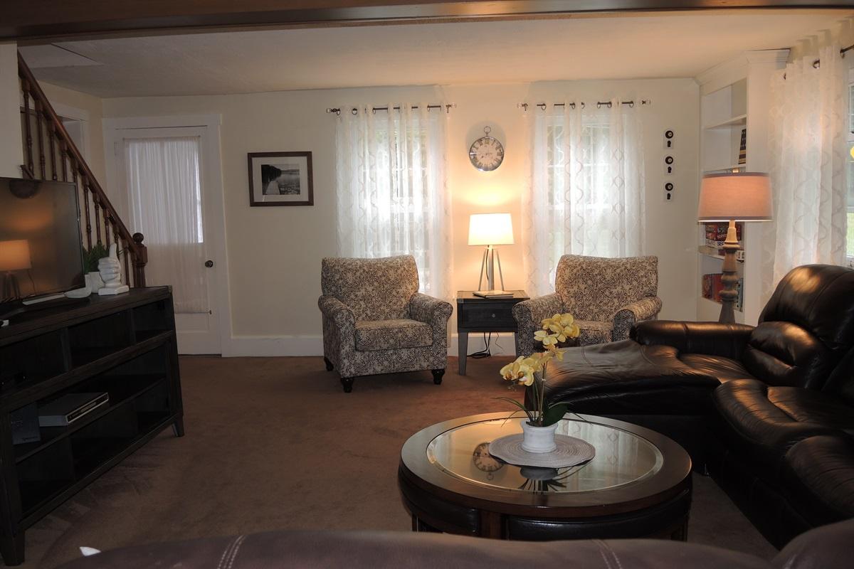Living room to second floor