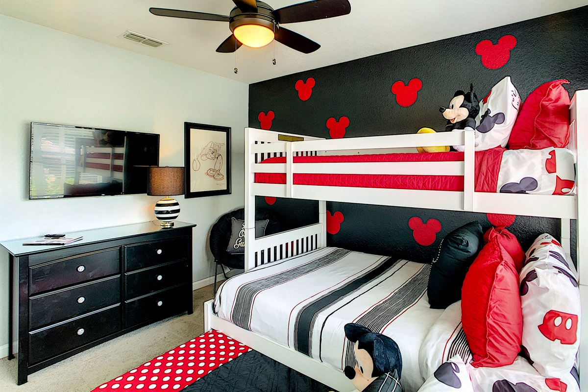 Bedroom #3 (Bunks-Double On Bottom-Twin On Top-Trundle Under)