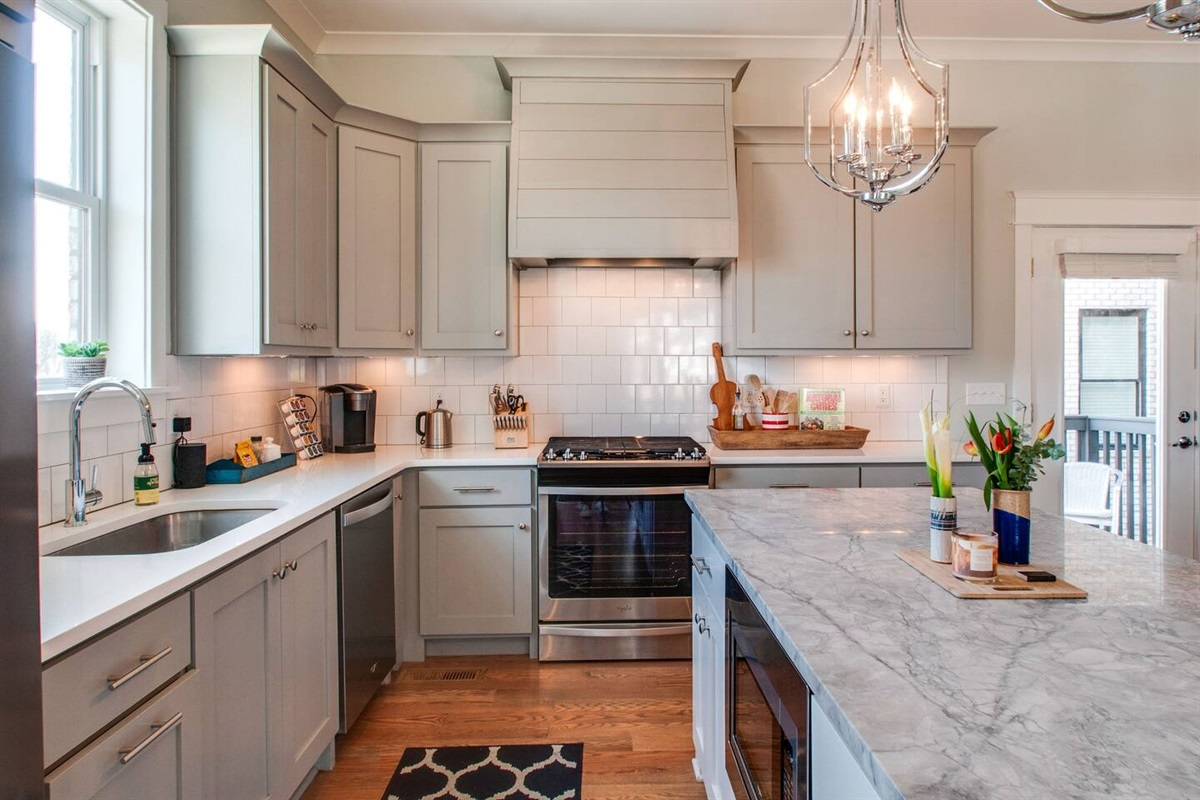Fully stocked kitchen to whip up your meals