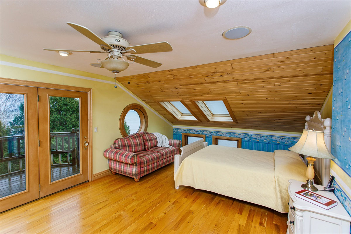 Bedroom 3. TWO queen beds and a private deck!