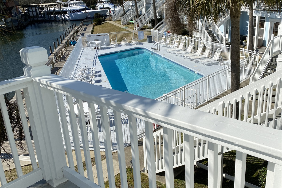 Pool view from your deck!