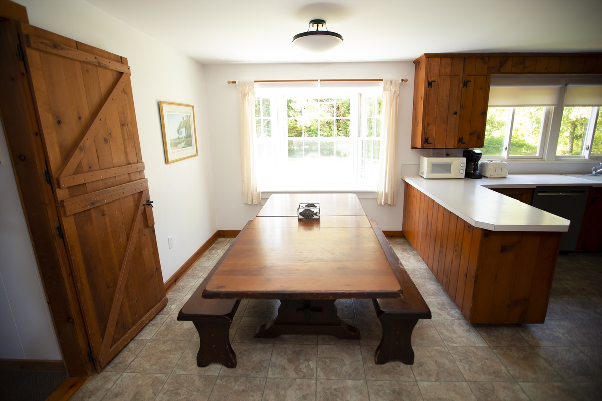 Kitchen with large family table