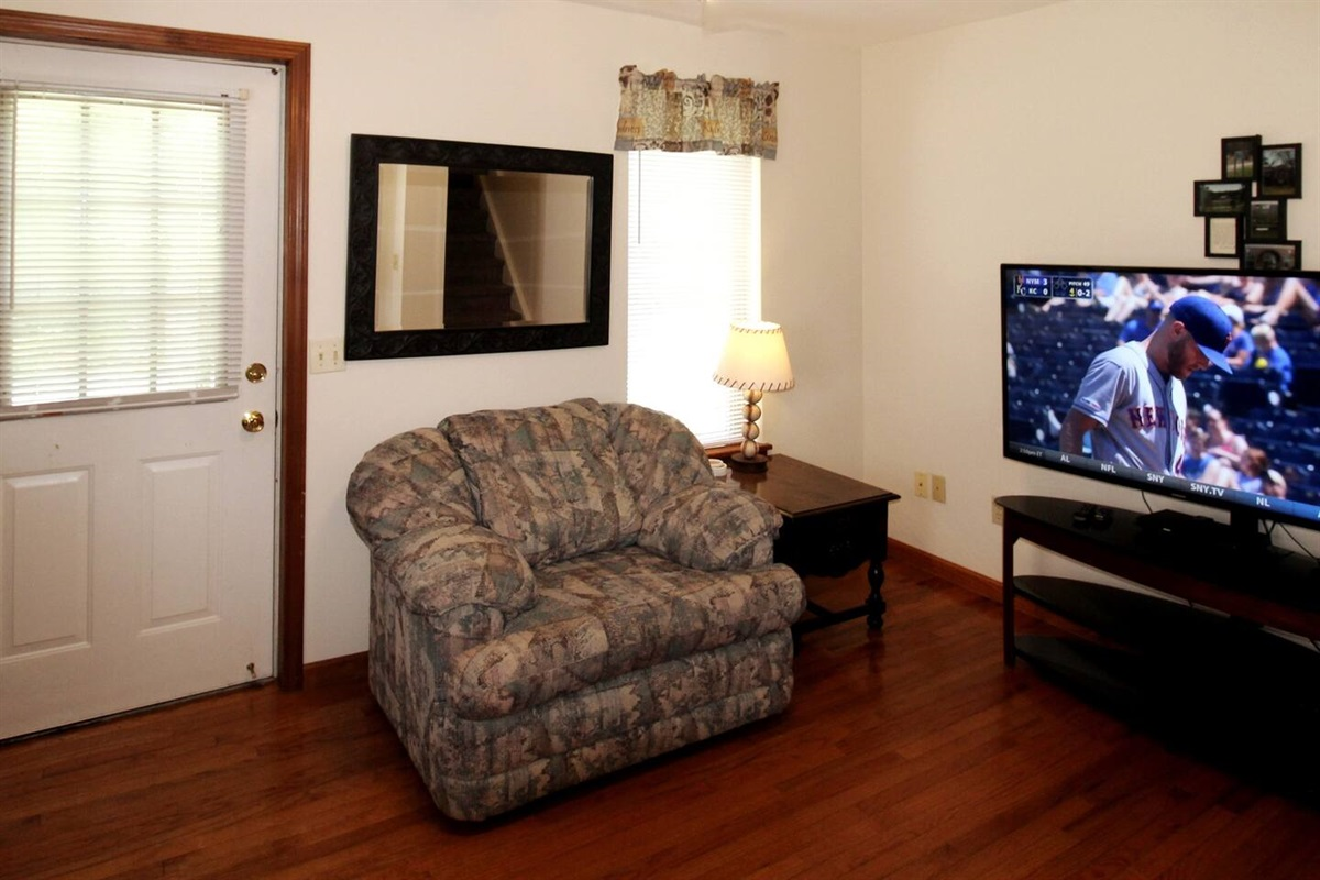 """55"""" (or larger) flat screen cable TV with DVD in living room"""