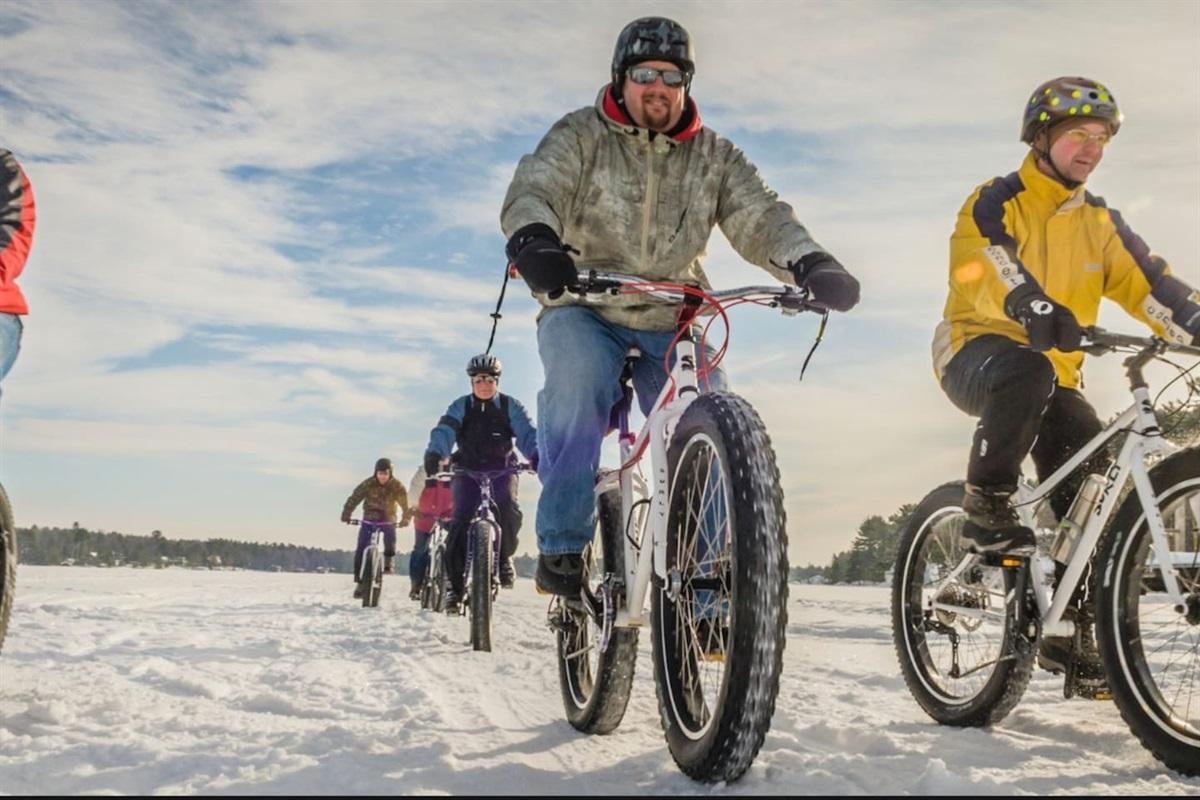 Winter biking 30 min away