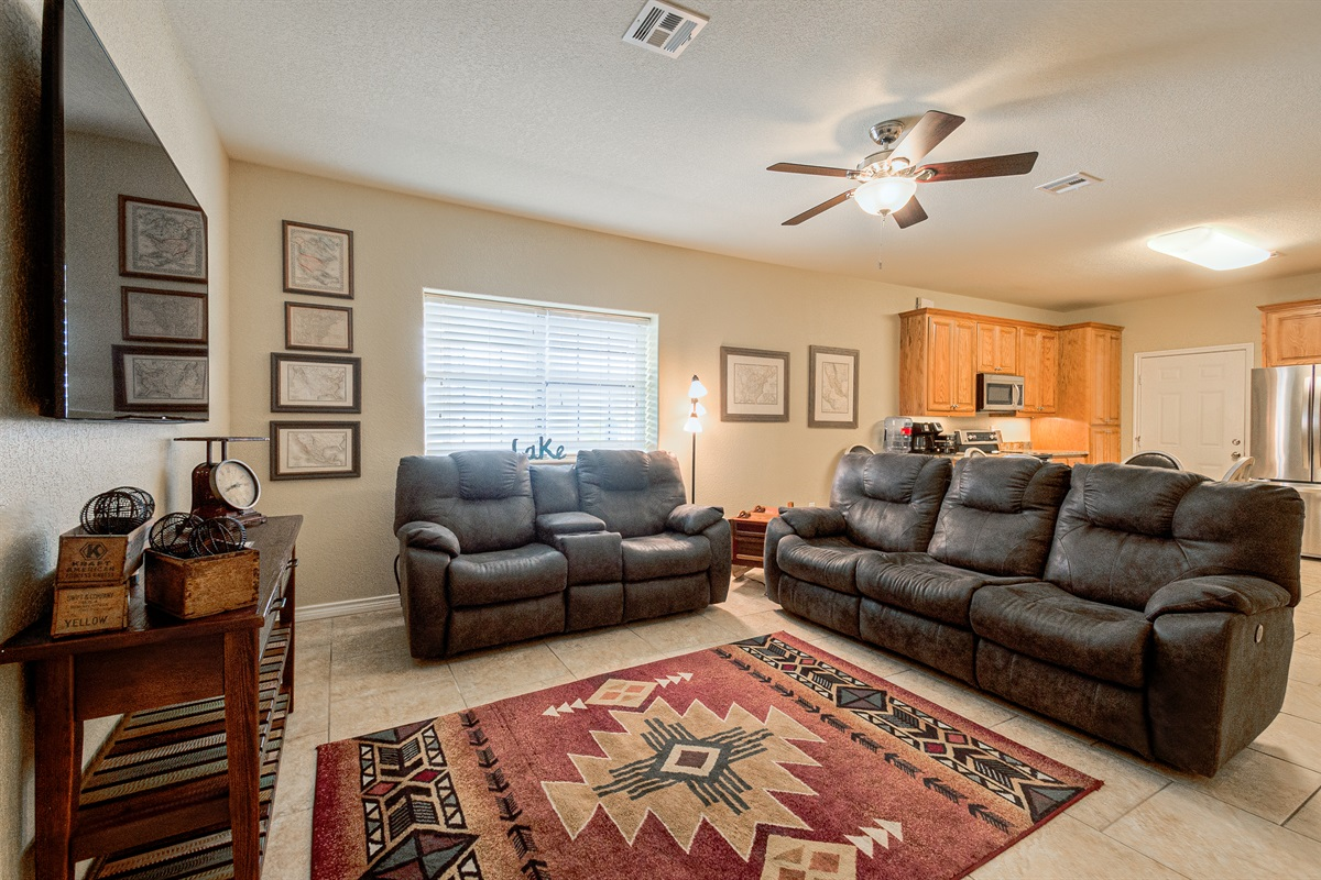 Living Room in Barn dominium