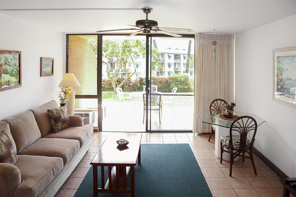 Secure ground floor location -- walk out to your lanai, keep an eye on the kids