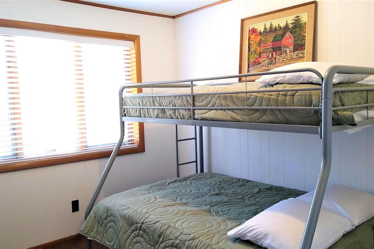 White Room - Twin over full bunkbed