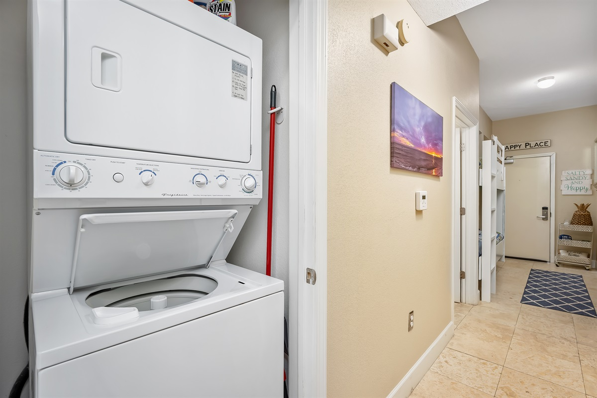 Washer and dryer in the unit