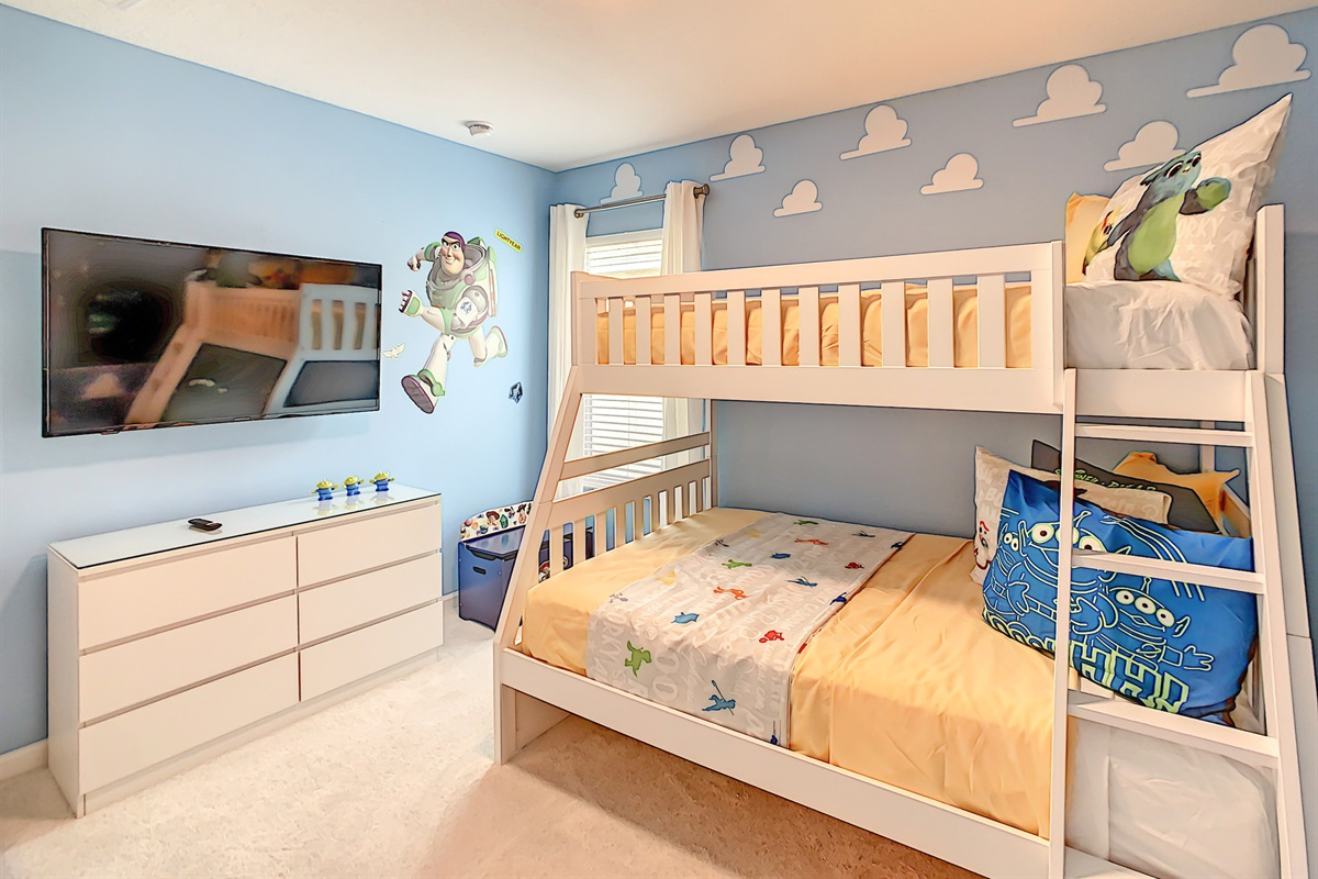 Bedroom #4- Toy Story Theme-Bunk Beds-2nd Floor