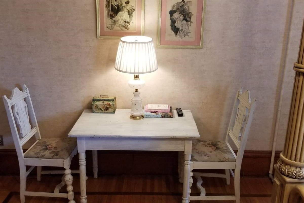 White Suite - Table and Chairs