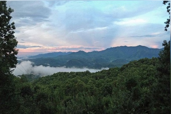 Another view of Mt. Le Conte from our covered deck
