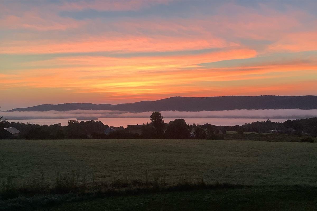 Sunrise over Canadarago