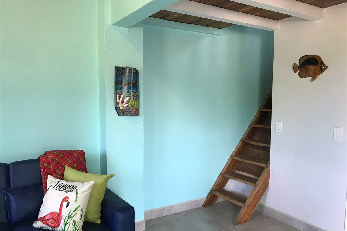 Stairway to the bedroom area