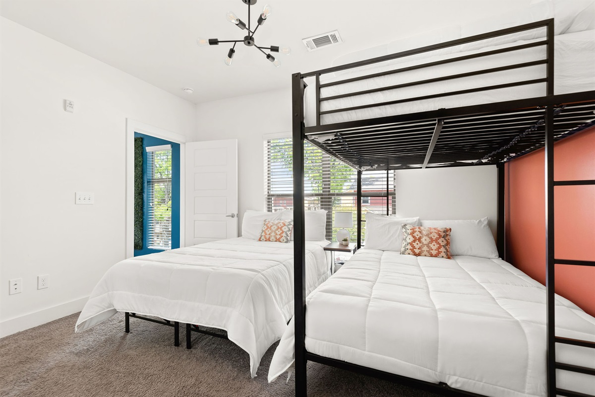 Fresh linens and 4 sleeping pillows on each bed