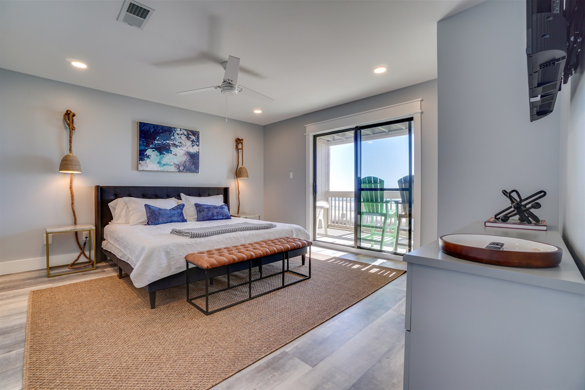 Master on main level with gulf views