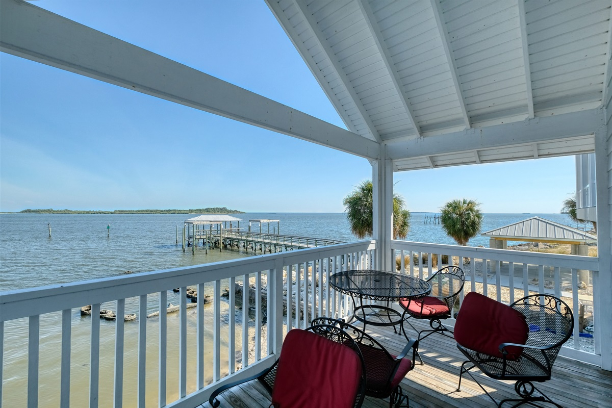 Relax with a drink or coffee on the porch
