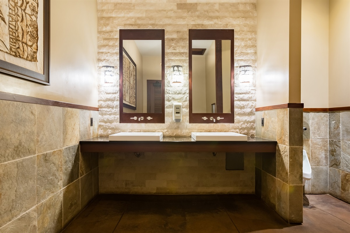 Balinese style bathrooms at the pool pavilion.