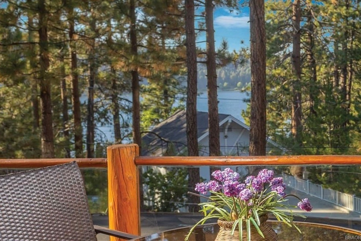 Another million dollar view of the lake from Waterview Cabin.