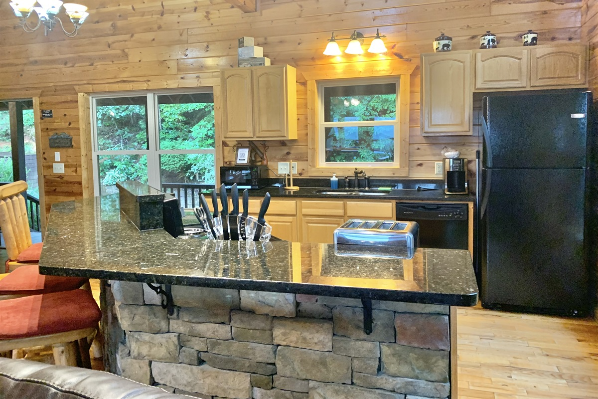Kitchen with upgraded Granite Countertops