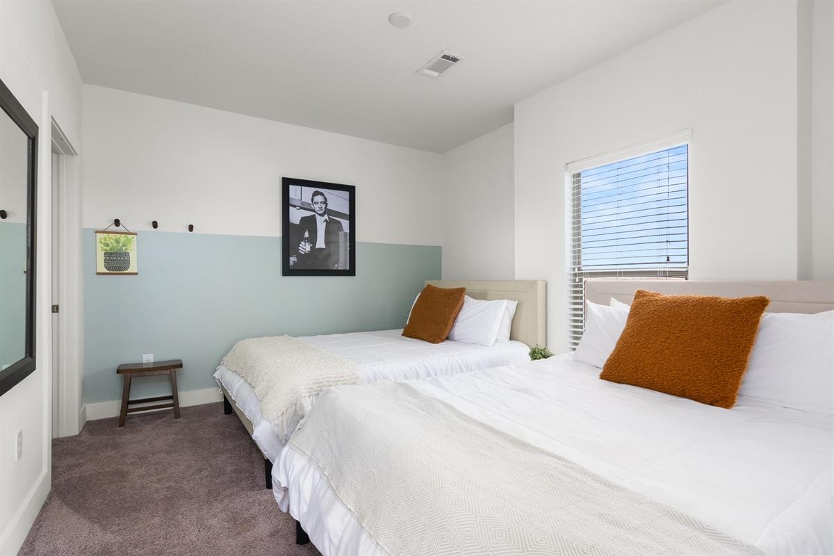2 memory foam queen beds in bedroom #2