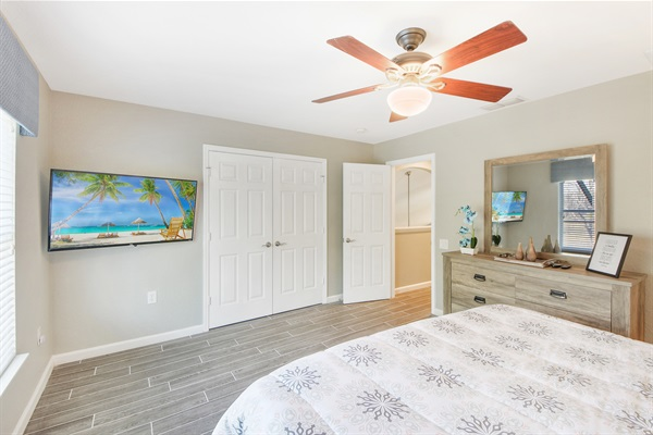 Ceiling Fans & HDTV's In ALL Rooms