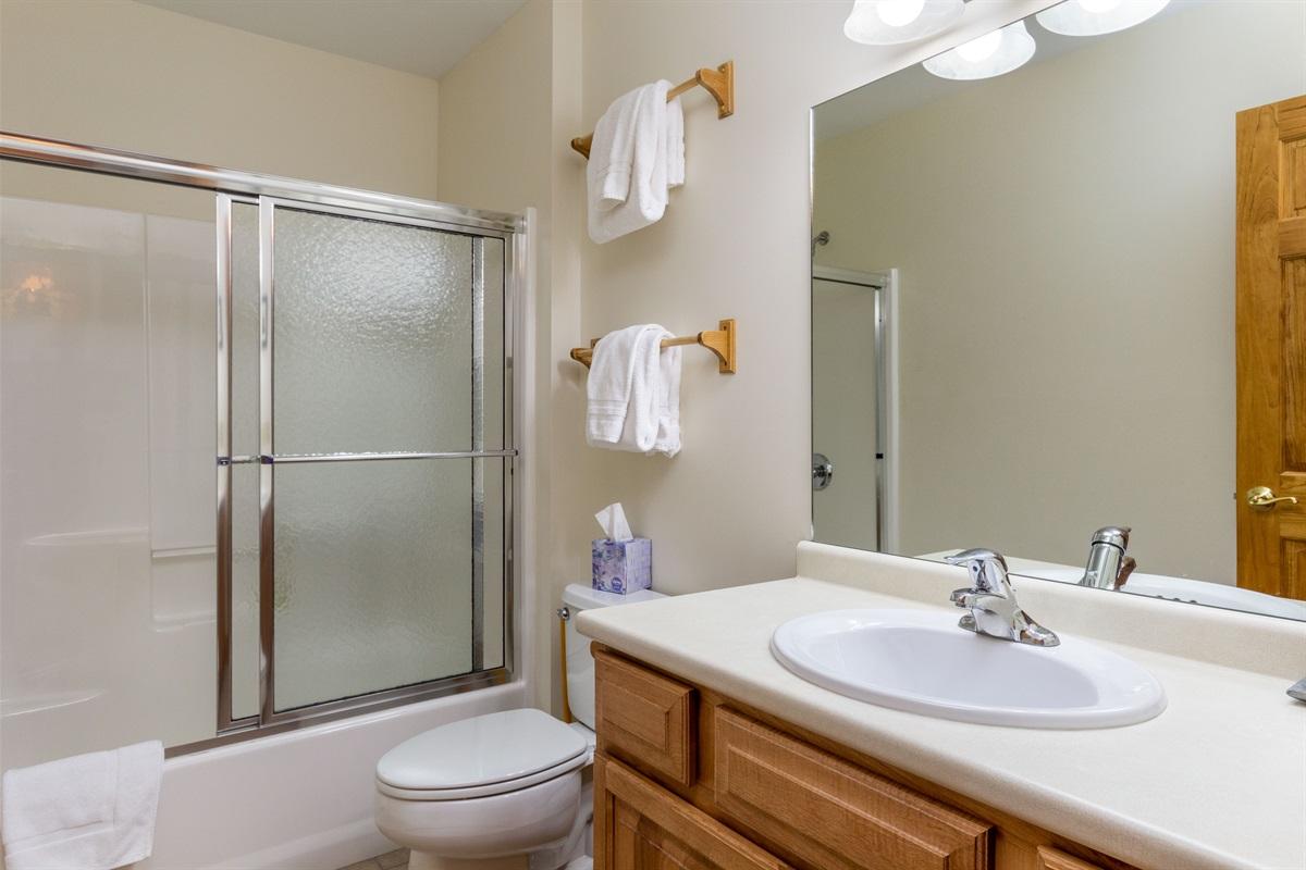 Bathroom 2. Shower / Tub combo.