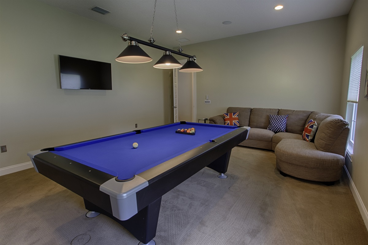 Professional Pool Table and Games Room