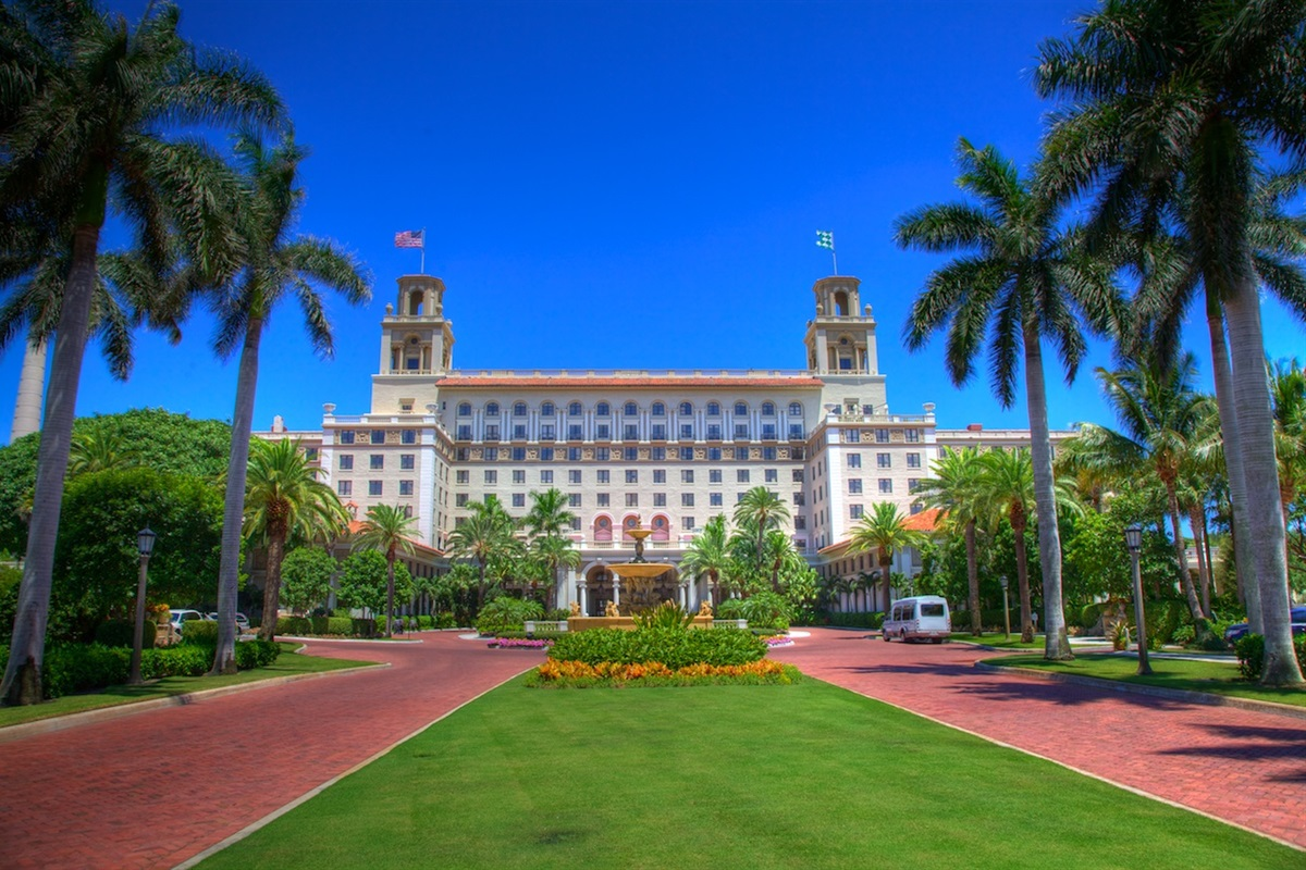 The world renowned Breakers Hotel on Palm Beach Island