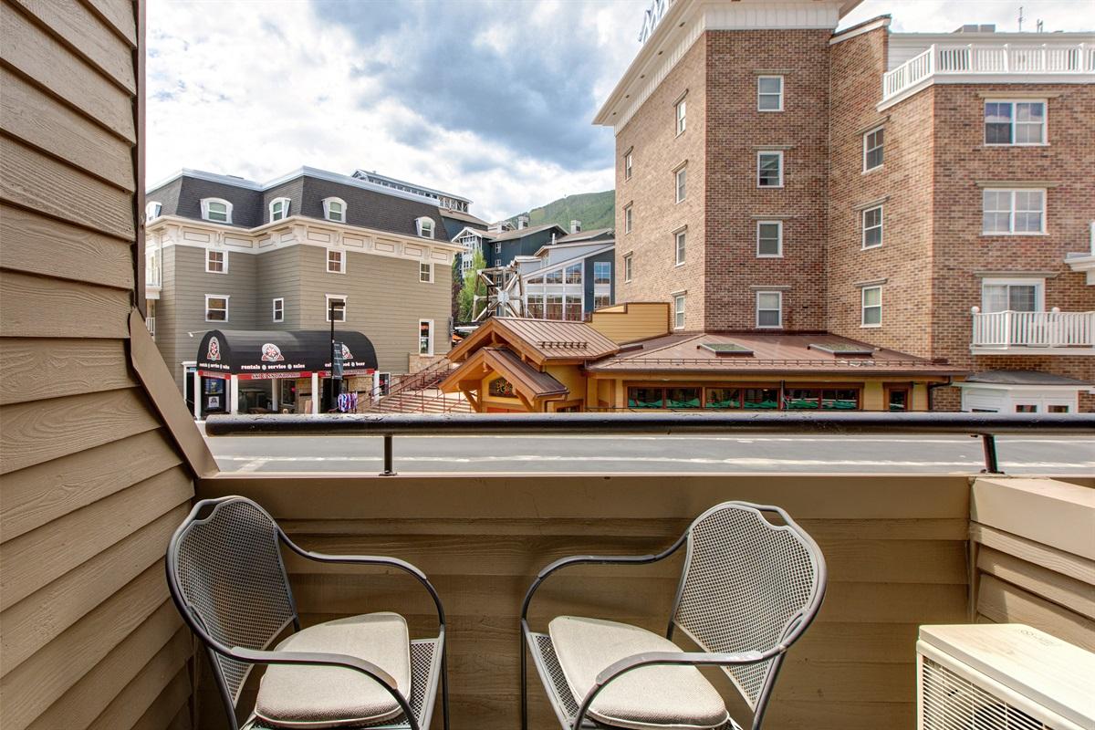 Deck overlooking Park City Resort Village