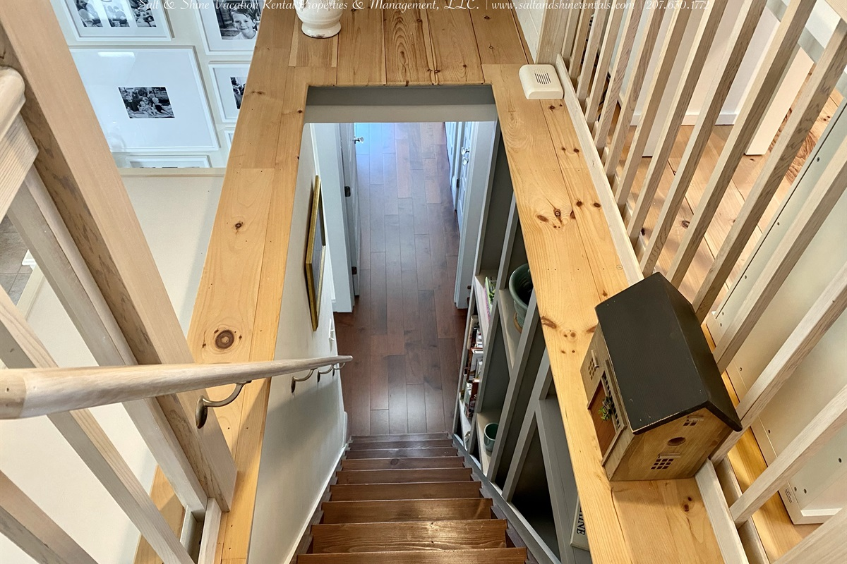 Note steepness of stairwell