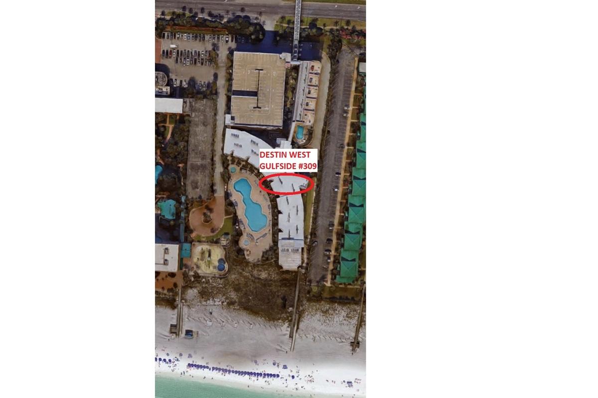 Destin West Gulfside #309 - Aerial View
