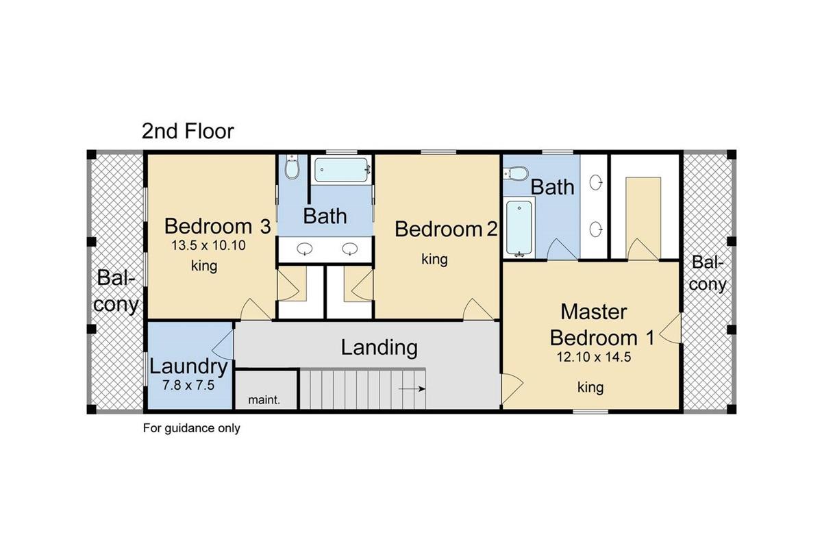 Floor plan, second floor.