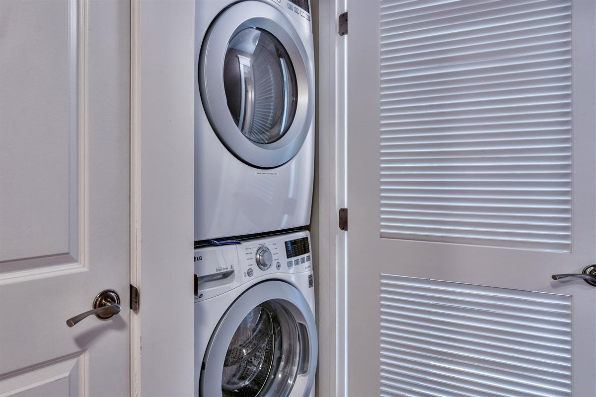 New high efficiency washer/dryer installed.