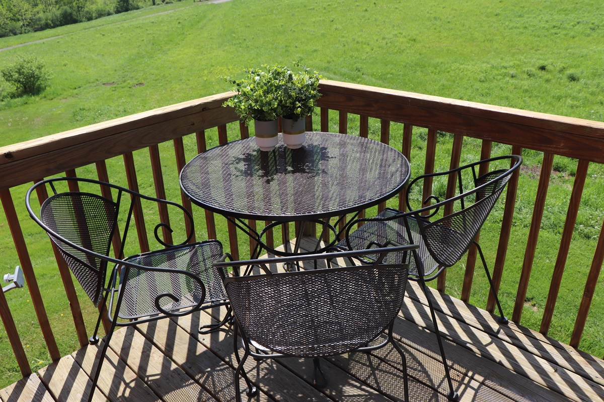 Outdoor seating on balcony