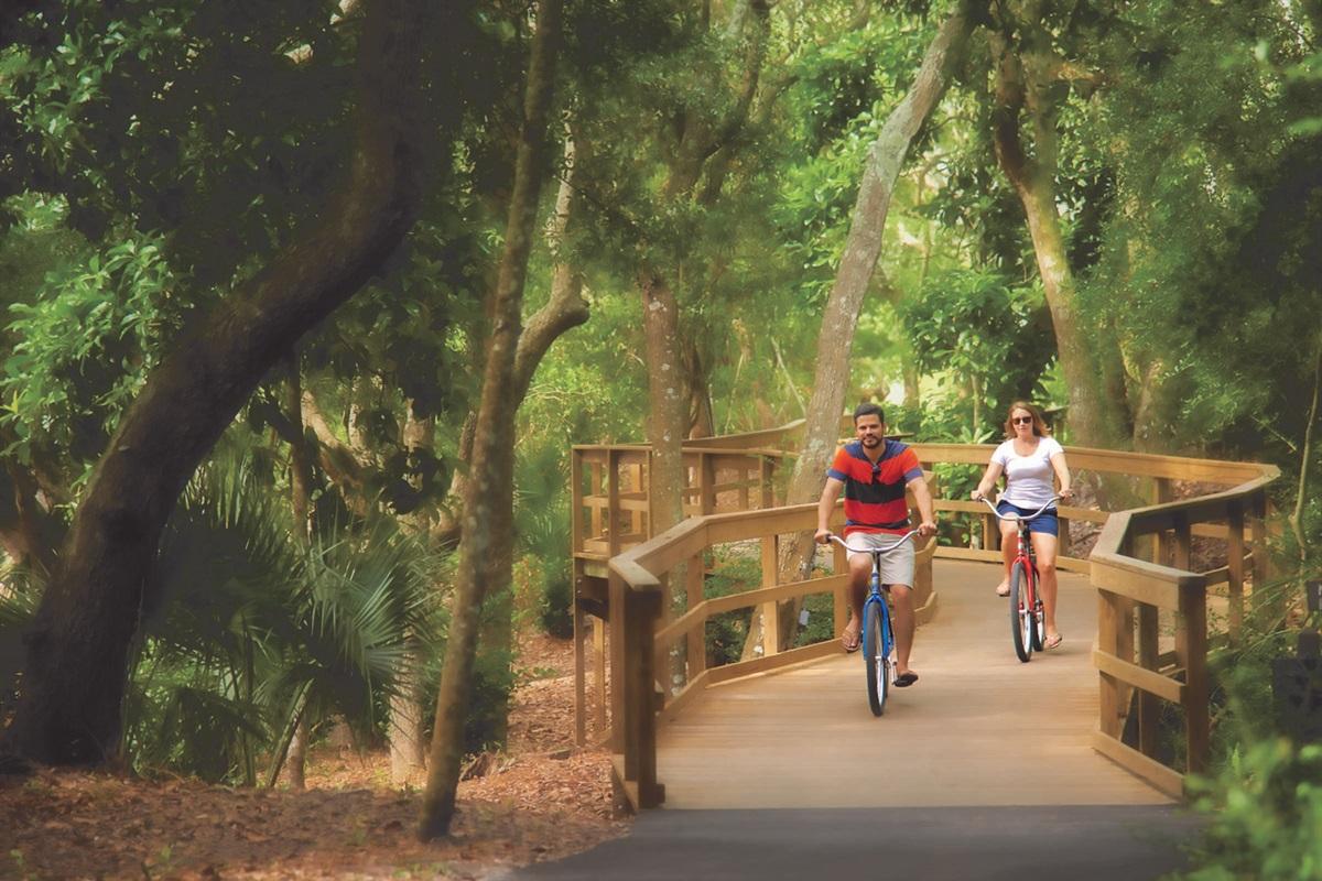 Many, many bike paths