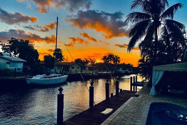A Florida Sunset on the Intracoastal