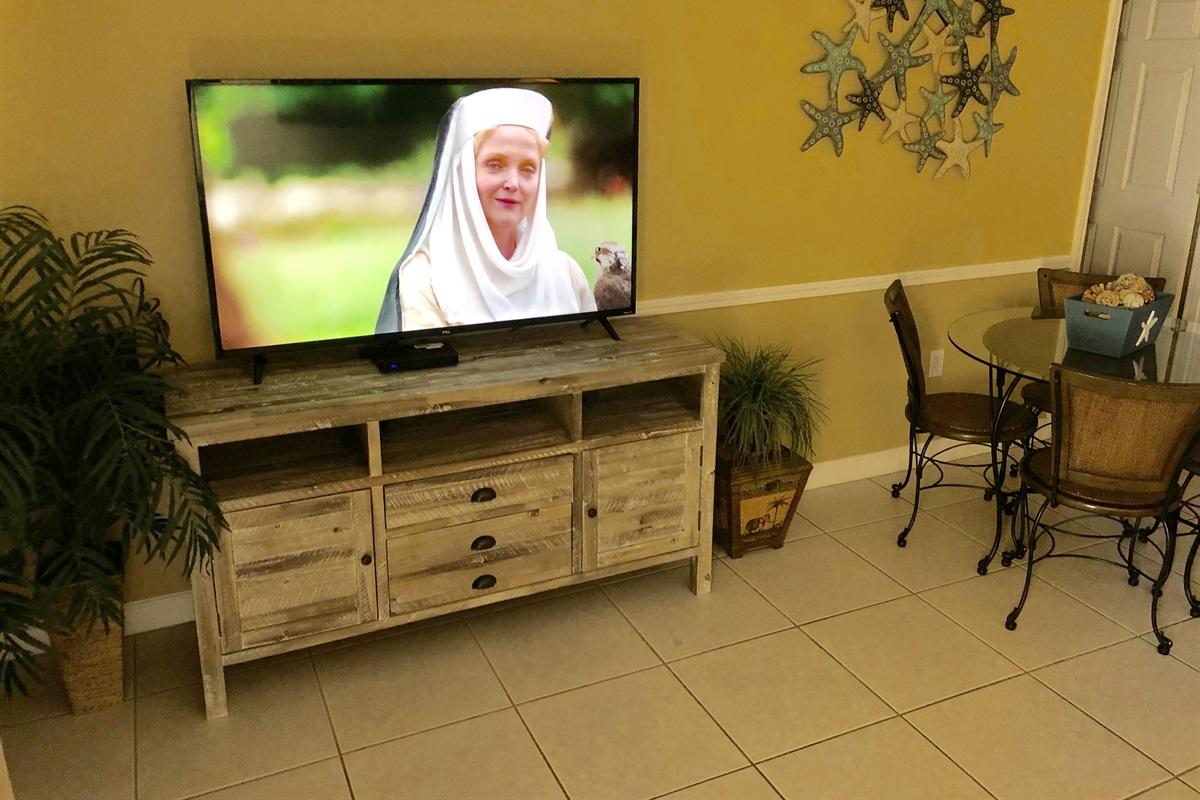 55 inch flat screen TV in living area