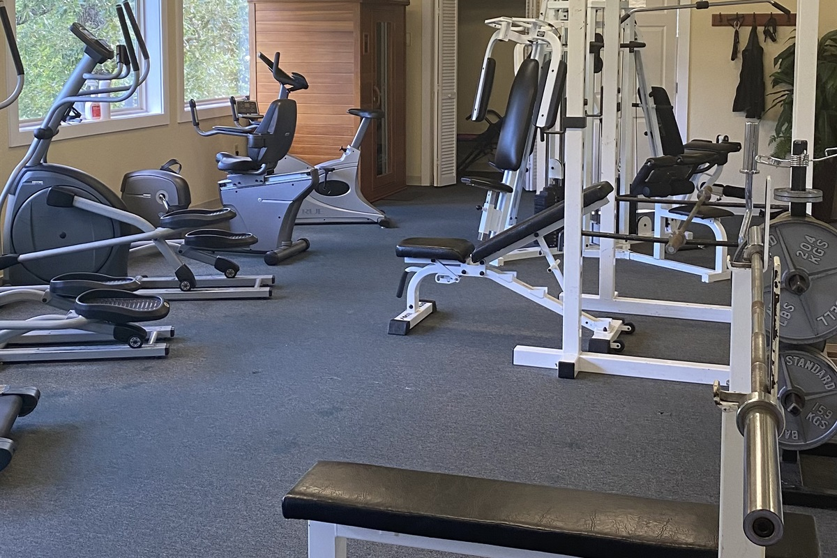 The gym at Wild Laurel Clubhouse