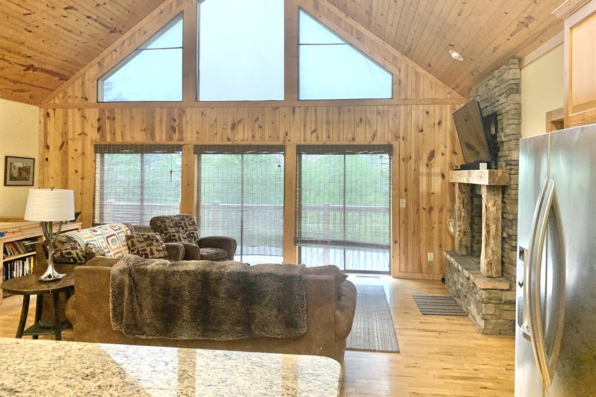 Floor to Ceiling Windows with Horse Range Mountain Views