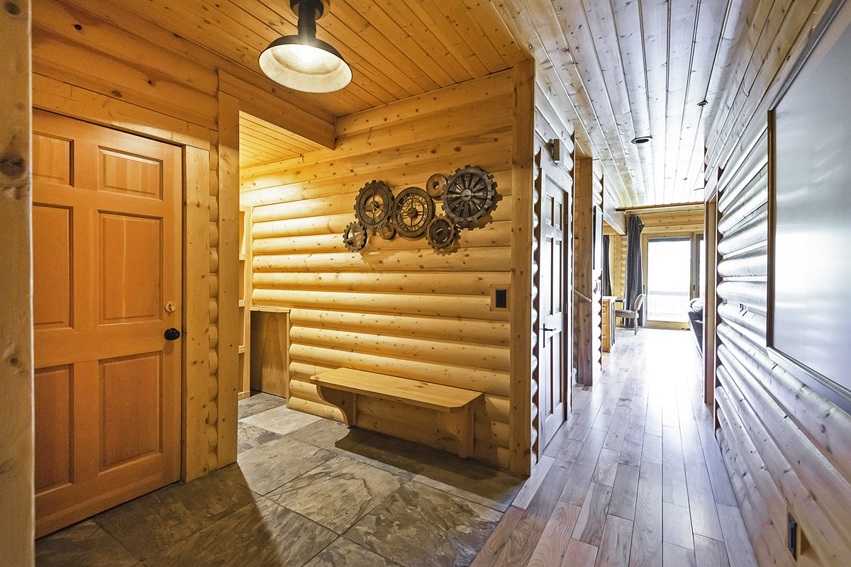 Front entrance with ski and gear storage