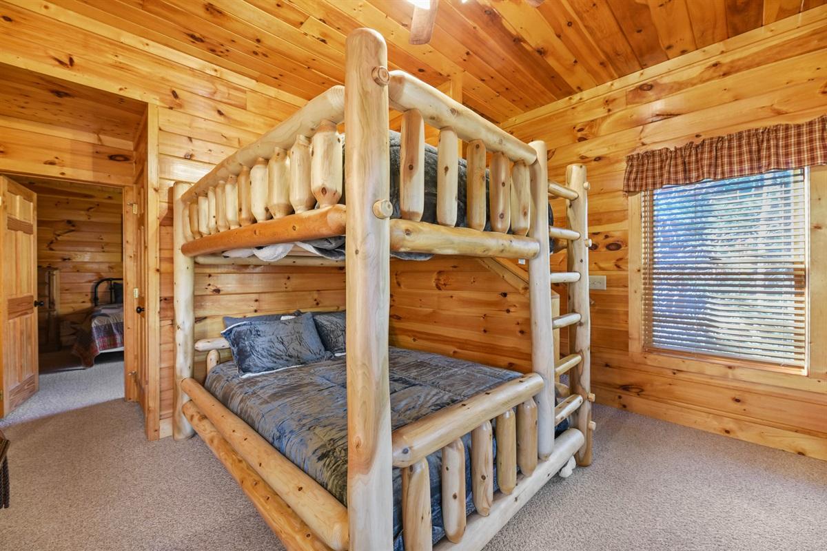 Queen Bunk Bed in Game room