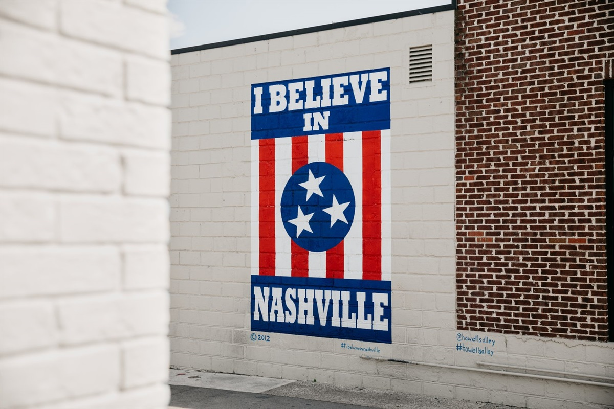 """Take a quick Uber to 12 South and explore the local boutique shops, cafes, and restaurants.  Don't forget to get your photo by the """"I Believe in Nashville"""" sign!"""
