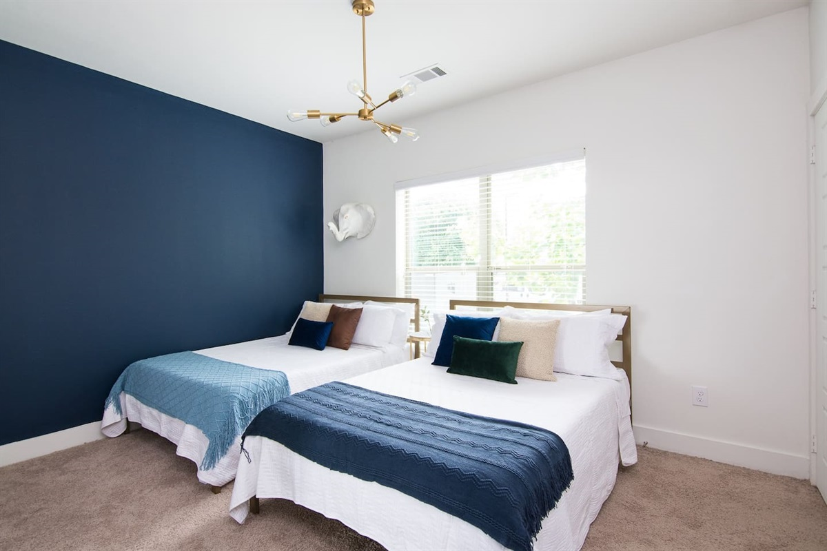 Comfortable memory foam beds with fresh linens!  Sleep soundly during your stay!