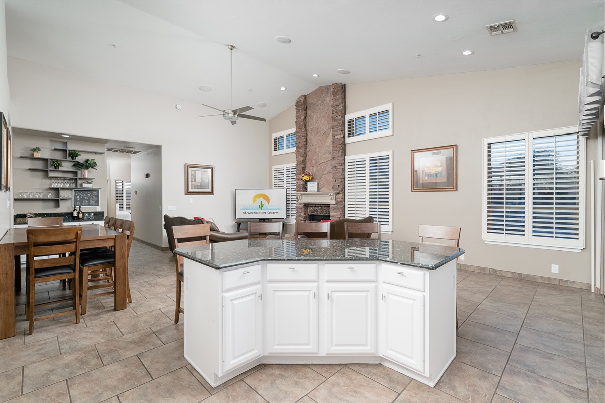 Common Area from Kitchen Island